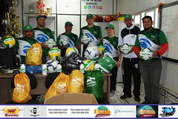 Barracão - Deputado Federal Aliel Machado viabiliza material esportivo para o município