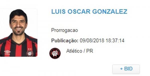 Atlético-PR estende contrato de Lucho González por mais três meses