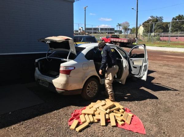 PRF apreende quase 50 kg de maconha na BR-163