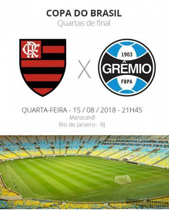 Grêmio e Flamengo se enfrentam pela Copa do Brasil