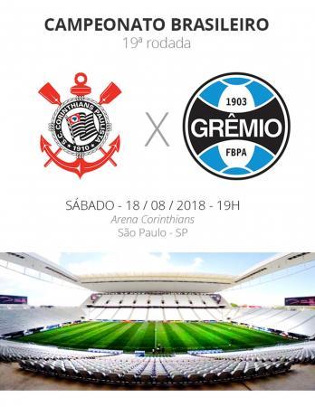 Grêmio enfrenta o Corinthians