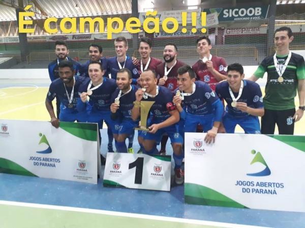 Ampére Futsal é campeão dos Jogos Abertos do Paraná