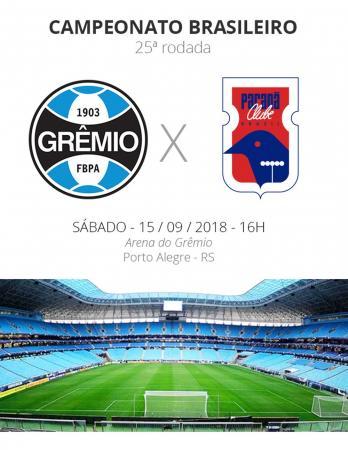 Rodada 25: Grêmio x Paraná