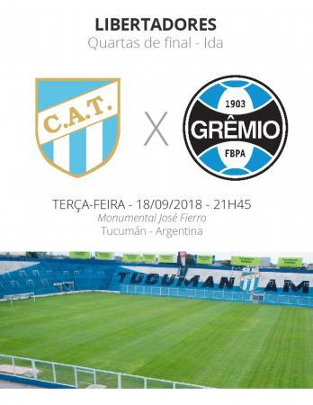 Quartas da Libertadores: Tucumán x Grêmio