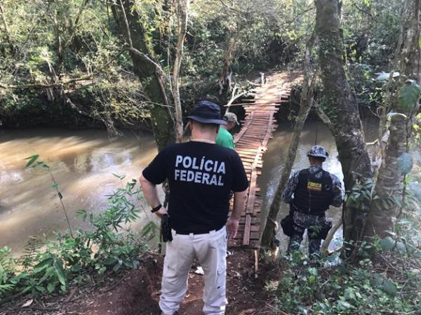 """Polícia Federal e Força Nacional fecham onze """"pontes"""" clandestinas"""