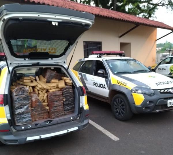Polícia Militar apreende cerca de 250 kg de maconha