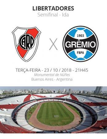 Semifinais da Libertadores: tudo o que você precisa saber sobre River Plate x Grêmio