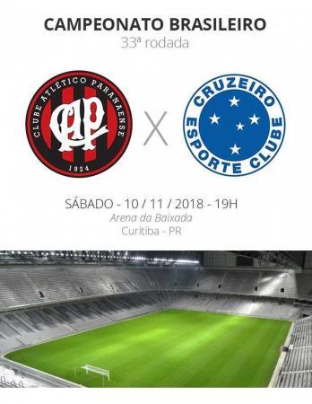 Atlético-PR x Cruzeiro: tudo o que você precisa saber sobre o jogo da rodada #33