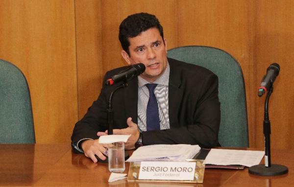 O juiz federal Sergio Moro durante entrevista na última terça-feira (6) — Foto: Giuliano Gomes/ PR Press