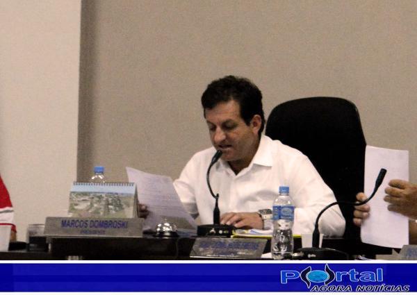 Marcos Dombroski, presidente da Câmara de Vereadores de Barracão/Foto:Marcos Prudente