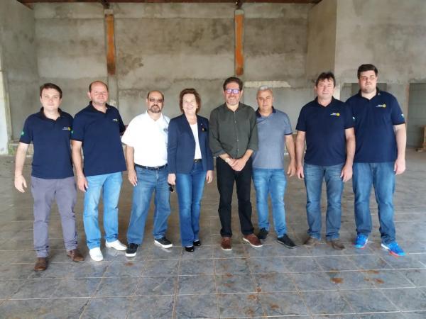 Barracão - Governadora do Rotary Clube visita Marco Zandoná e Erondi Faé