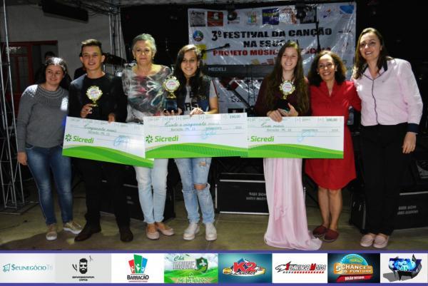 Vencedores do Festival da Canção do Projeto Música na Escola