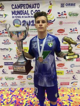 Chopinzinhense Fabinho Rocha é o artilheiro do Mundial de Futsal sub-20 na Colômbia