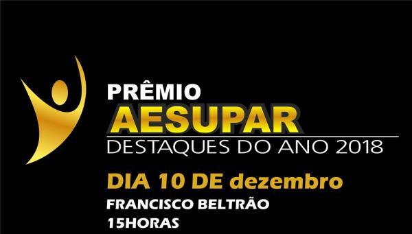Aesupar vai premiar os Destaques do Esporte 2018