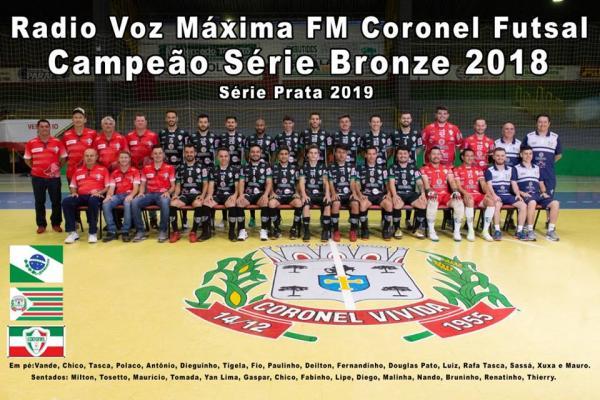 Coronel Futsal é campeão da Série Bronze de Futsal 2018