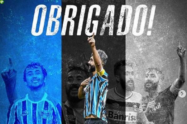 De saída do Grêmio,Douglas se despede de torcida: