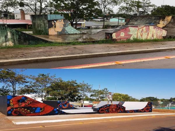 Pista de Skate é revitalizada e a obra será inaugurada no Parque Internacional em Barracão
