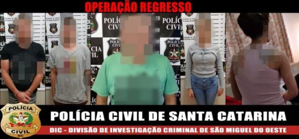 Polícia prende cinco integrantes de associação criminosa dedicada ao comércio ilícito de drogas