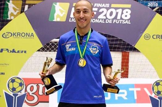 Candidato a melhor do mundo, Danilo Baron se despede do Pato Futsal