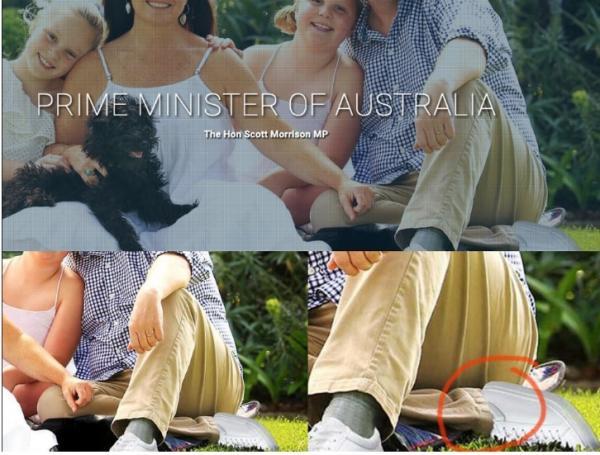 Com dois pés esquerdos, foto oficial de primeiro-ministro da Austrália vira piada nas redes