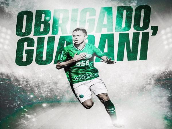 Poveda se despede do Guarani nas redes sociais e fica livre para assinar com o Athletico