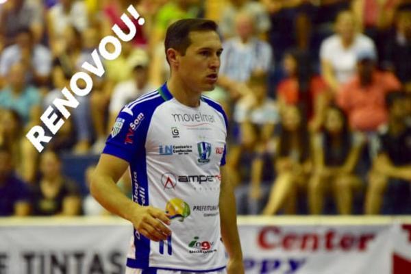 Ampére Futsal renova com mais quatro jogadores, e com o preparador físico