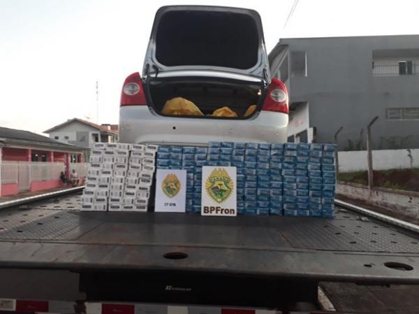 Veículo com cigarros contrabandeados é apreendido em Bom Jesus do Sul