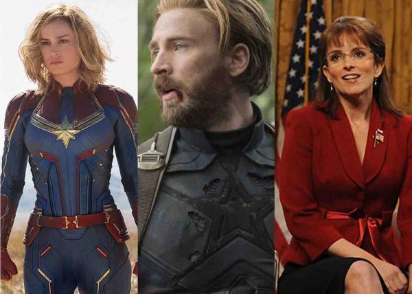 Brie Larson, Chris Evans e Tina Fey apresentarão o Oscar 2019 — Foto: Divulgação