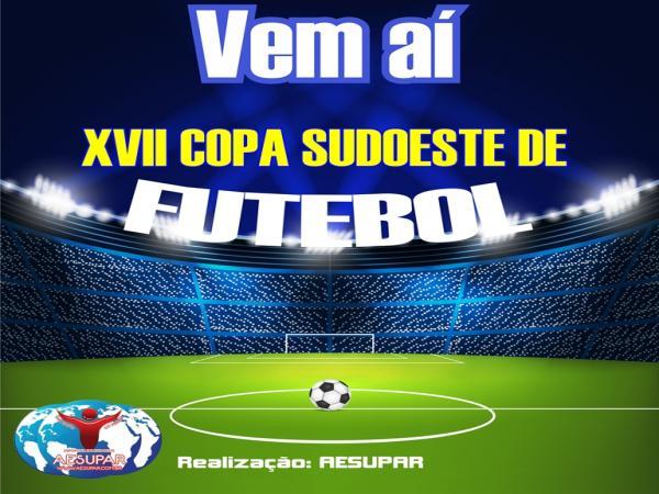 Inscrições para a Copa Sudoeste de Futebol terão início no próximo dia 11