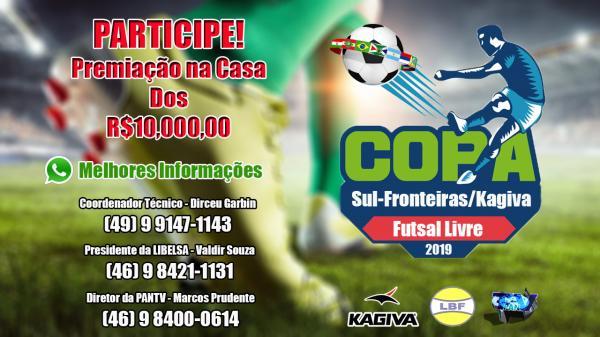 Vai ser dado o pontapé inicial na  Copa Sul Fronteiras de Futsal, monte sua equipe e participe