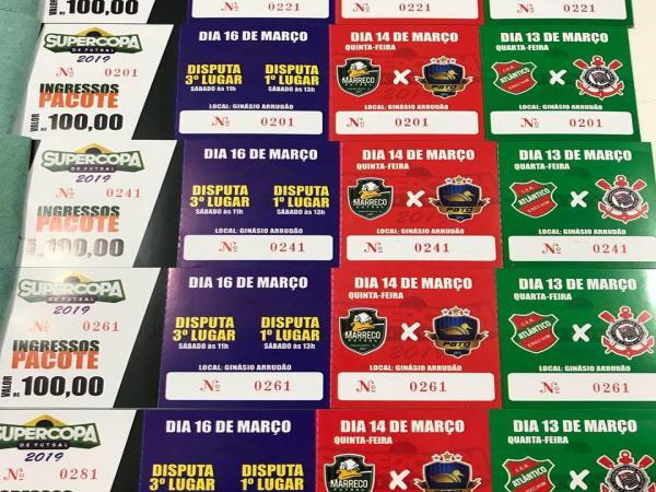 Aberta a venda de ingressos para a Supercopa de Futsal em Francisco Beltrão