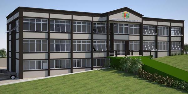 Barracão - Iniciado o trabalho de revitalização externa do prédio da prefeitura