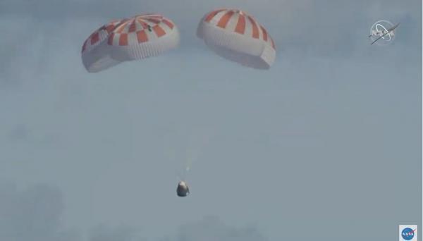 Missão-teste da Nasa para levar pessoas ao espaço volta à Terra