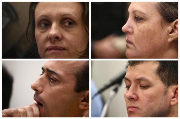 Graciele Ugulini, Edelvânia Wirganovicz, Leandro Boldrini e Evandro Wirganovicz receberam as sentenças Jefferson Botega / Agência RBS