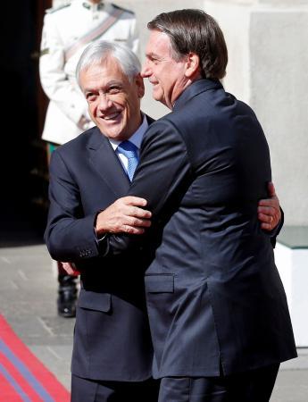 No terceiro dia no Chile, Bolsonaro tem reunião com o presidente Sebastián Piñera