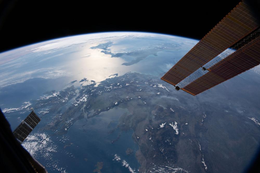 Imagem da Terra vista da Estação Espacial Internacional — Foto: Nasa