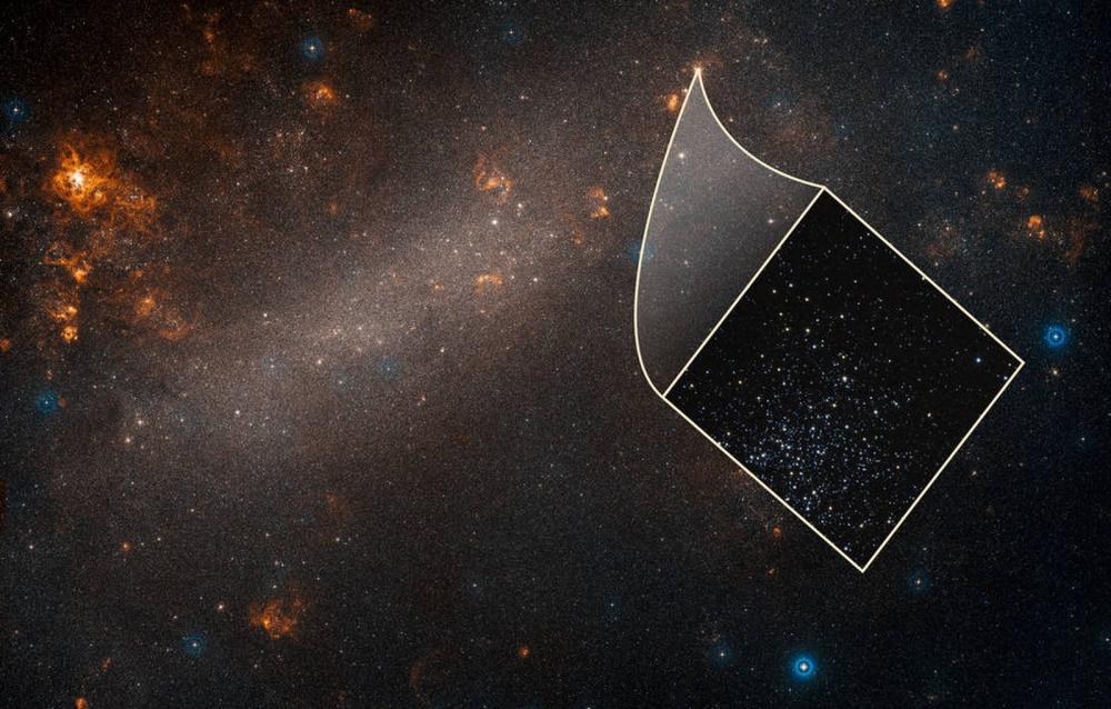 Vista da galáxia Grande Nuvem de Magalhães a partir do telescópio Hubble; brilho de estrelas dessa galáxia, vizinha à Via Láctea, ajudou cientistas a determinarem a velocidade de expansão do universo — Foto: Divulgação/NASA, ESA, A. Riess (STScI/JHU) and