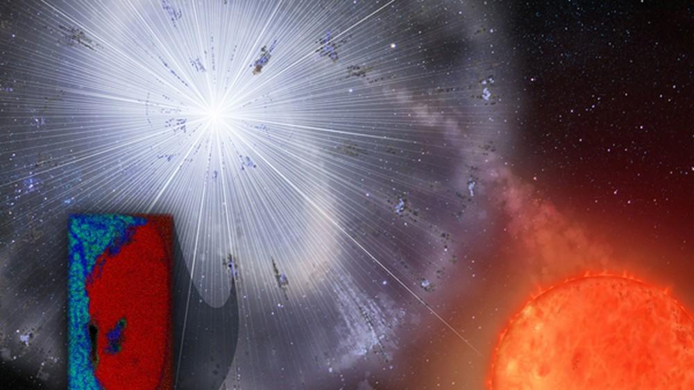 O grão de poeira foi lançado por uma estrela que explodiu antes do nascimento do Sistema Solar — Foto: HEATHER ROPER/UNIVERSITY OF ARIZONA