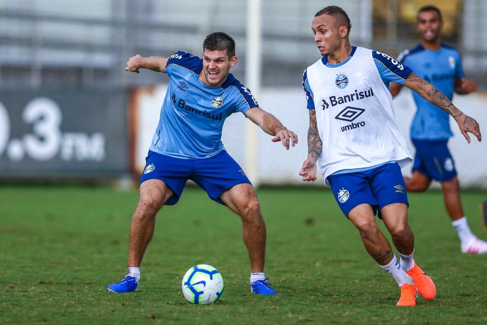 Kannemann e Everton devem estar na Copa América — Foto: Lucas Uebel/Grêmio