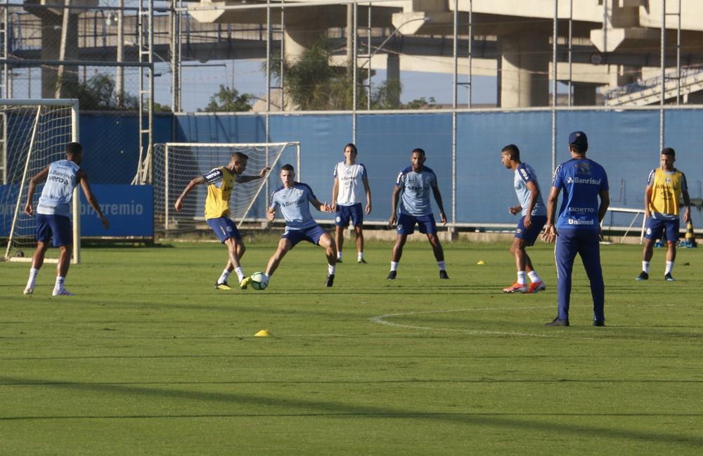Luan em treino do Grêmio — Foto: Eduardo Moura