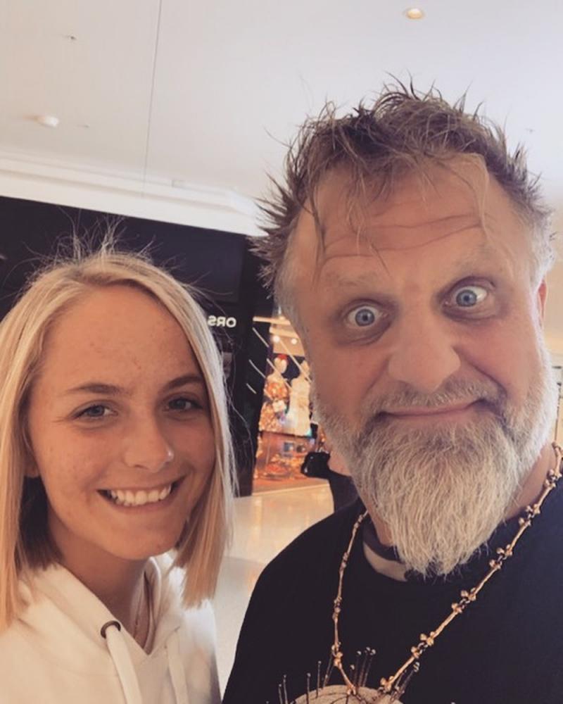 Shawn Crahan, do Slipknot, com a filha, Gabrielle — Foto: Reprodução/Instagram
