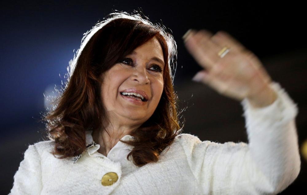 Cristina Kirchner, ex-presidente da Argentina, durante lançamento do livro 'Sinceramente' — Foto: Agustin Marcarian/Arquivo/Reuters