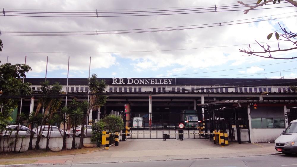 Fábrica da RR Donnelley em Tamboré, no Barueri (SP). Empresa entrou com pedido de falência — Foto: RR Donnelley/Divulgação