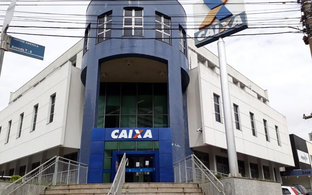 Agência da Caixa Econômica Federal em Goiânia, Goiás — Foto: Paula Resende/ G1