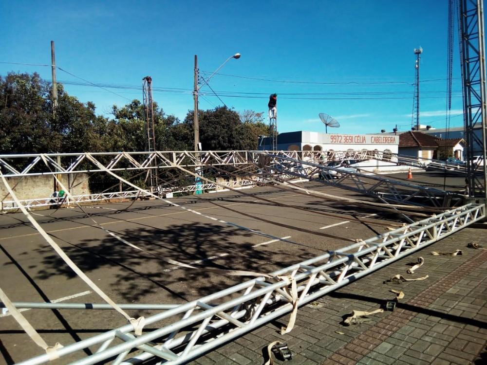 Barracão- Praça Clevelândia já está sendo organizada para o 2º São João da Fronteira