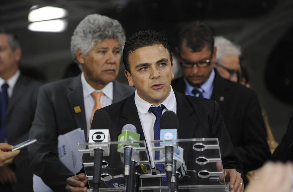 Aliel Machado durante entrevista coletiva/Foto:Divulgação