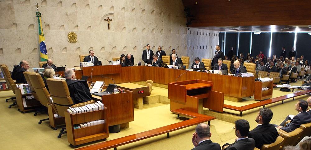 Ministros do Supremo Tribunal Federal (STF) no plenário da Corte — Foto: Nelson Jr./SCO/STF
