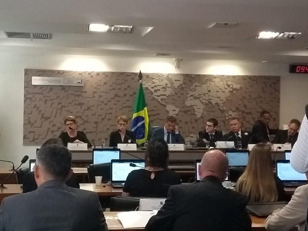 Audiência Pública da Chapecoense no Senado — Foto: Marcelo Cardoso/GloboEsporte.com