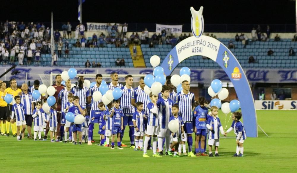 Avaí, elenco 2019 — Foto: Frederico Tadeu / Avaí FC