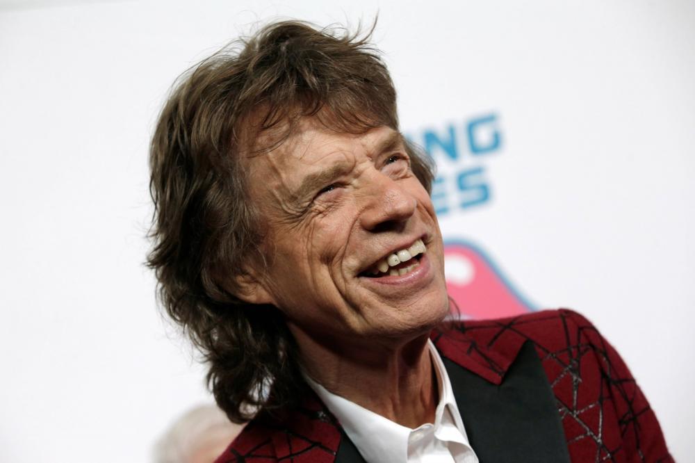 Mick Jagger, vocalista dos Rolling Stones, durante abertura de exposição sobre a banda em Nova York — Foto: Reuters/Mike Segar
